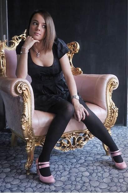 Alizee Heels Sexy Pantyhose Celebrities Celebrity Skirt