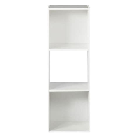 closetmaid stackable 3 cube organizer white closetmaid 12 in w x 36 in h white stackable 3 cube