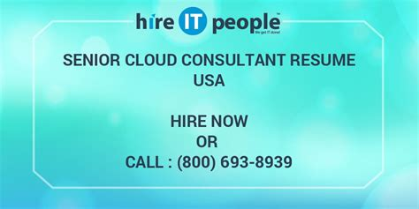 senior cloud consultant resume hire  people