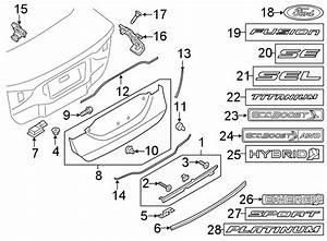 Ford Fusion Deck Lid Seal  Lower   2013