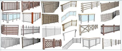 Decking Handrail Brackets by Instant Fence And Railing Sketchup Extension Warehouse