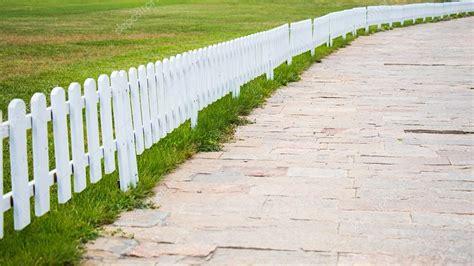 white wood fence stock photo peych p 77085573