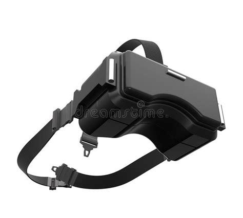 rendering image  black vr headset  white background