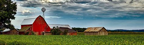 red barn on farm - The Family Center Super Stores