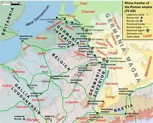 Dacia Arles : map of the rhine frontier of the roman empire 70ad illustration ancient history encyclopedia ~ Gottalentnigeria.com Avis de Voitures