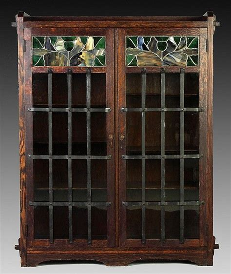 Arts And Crafts Bookcase by Limbert Two Door Bookcase And Early Quarter Sawn Oak