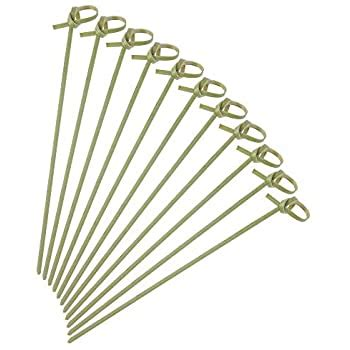 amazoncom   cocktail picks  pack bamboo knot