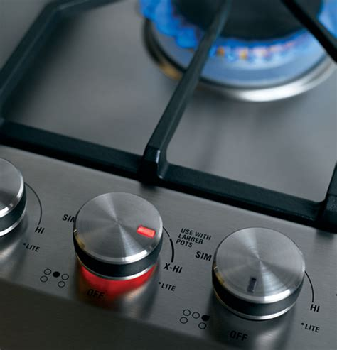 zgunsmss monogram  stainless steel gas cooktop natural gas  monogram collection