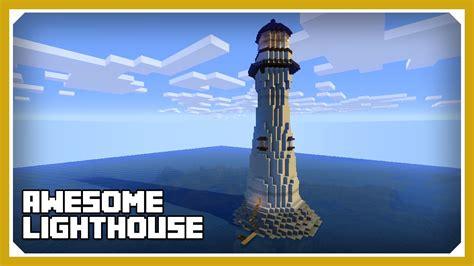 minecraft   build  lighthouse tutorial survival minecraft build youtube