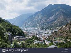 Andorra La Vella Capital City Stock Photos & Andorra La