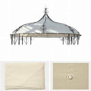 Sonnenschirm Ersatzbezug 3m : ersatzbezug f r dach pergola pavillon almeria 3m creme ~ Orissabook.com Haus und Dekorationen