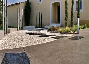 amenagement jardin contemporain aix en provence With amenagement exterieur maison terrain en pente 11 creer une terrasse en bois sur un terrain en pente