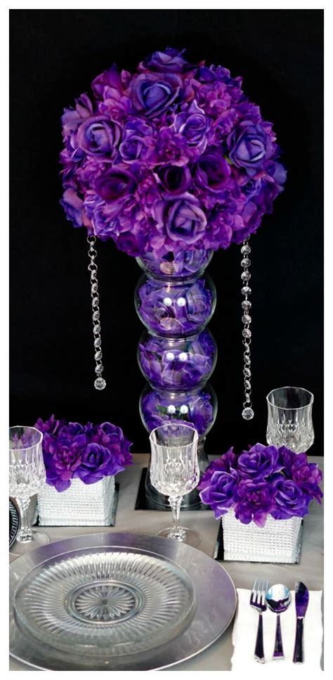 diy wedding decorations purple diy purple passion wedding centerpiece in 3 easy steps