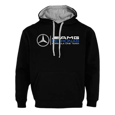 Mercedes benz amg fleece hoodie size medium. Mens Mercedes AMG Formula One Petronas Auto Hoodie Sweatshirt Jacket buy now | Petronas ...