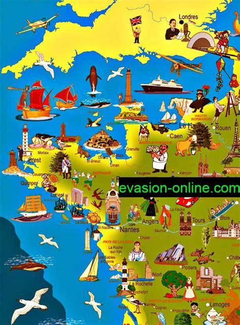 Carte Quart Nord Ouest by Carte De Touristique Illustr 233 E 187 Vacances Arts