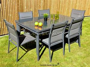 Ensemble De Jardin Pas Cher : salon de jardin aluminium ensemble table chaise exterieur ~ Dailycaller-alerts.com Idées de Décoration