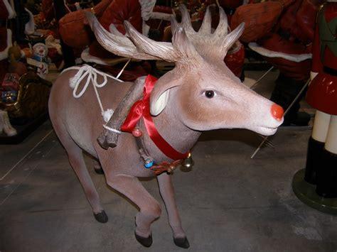 reindeer with decorative belt statue christmas decor