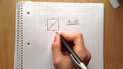 diagonale im quadrat ausrechnen hypothenuse ausrechen