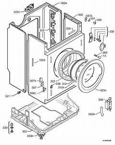 Zanussi Zjd12191  91460120000  Washing Machine Housing