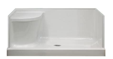 30 x 60 shower base left drain shower bases in canada canadadiscounthardware com