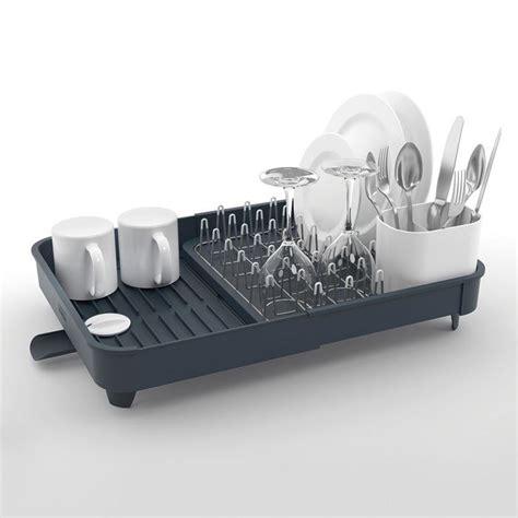 extend egouttoir 224 vaisselle extensible avec bonde joseph joseph gris la casserolerie