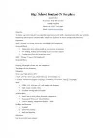 resume templates canada high school students resume sles for high school students sles of resumes