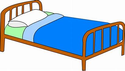 Bed Colored Clip Clipart Domain Clker