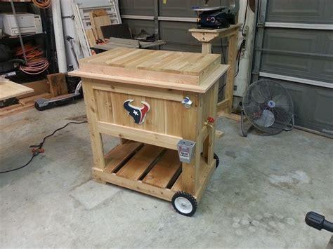wooden bench  cooler plans cooler box  kreg jig owners community great project idea