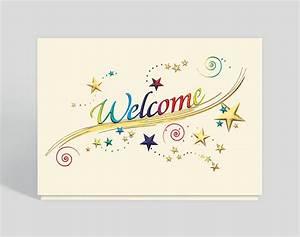 Rainbow Welcome Card, 300572 - Business Christmas Cards