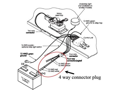 electric step 4 way connector