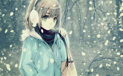Winter Anime Wallpaper - winter anime wallpapers wallpaper cave