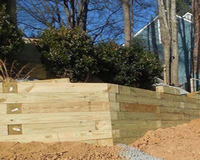 wood retaining wall contractor northern virginia fairfax