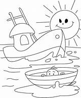 Coloring Boat Pages Nautical Printable Anchor Boats Printables Ship Row Colouring Drawing Infant Rocket Sailboat Nephi Builds Shrimp Truck Transportation sketch template