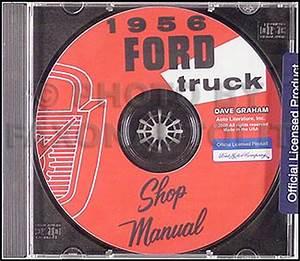 1956 Ford Pickup  U0026 Truck Repair Shop Manual Original
