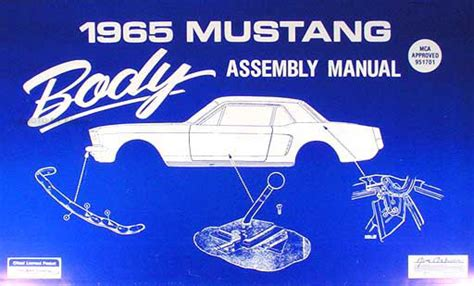 Ford Mustang Body Assembly Manual Reprint
