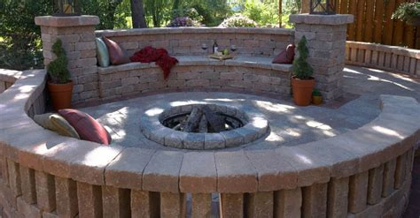 unilock michigan options for cozy pits in the howell lansing