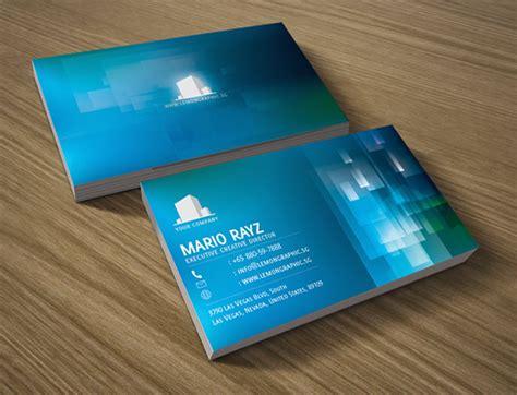 aqua water corporate business card lemon graphic