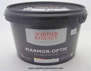 Marmor Optik Wand : marmor optik grundspachtel 5 kg sch ner wohnen schenken und ~ Frokenaadalensverden.com Haus und Dekorationen