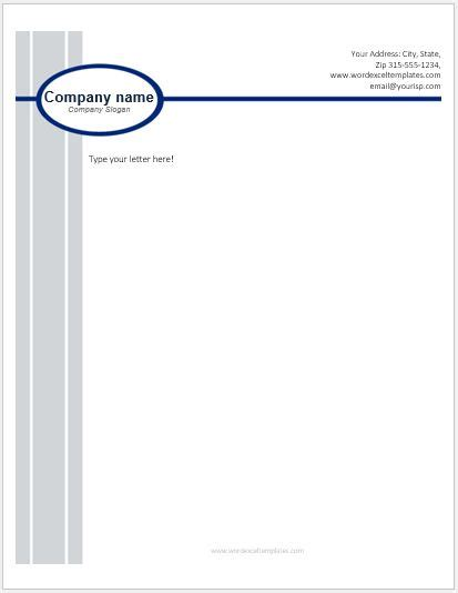 business letterhead templates  ms word word excel