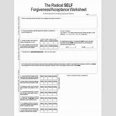 Self Forgiveness Self Acceptance Worksheet  Forgiveness  Metaphysics Of Mind