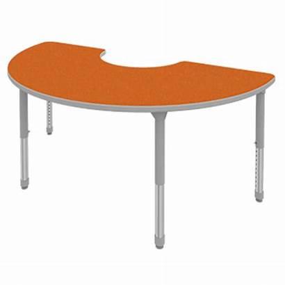 Clipart Moon Classroom Table Half Teacher Tables