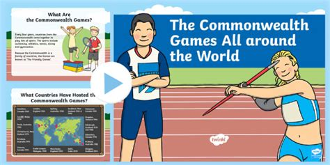 * New * Ks1 Commonwealth Games All Around The World Powerpoint Geography