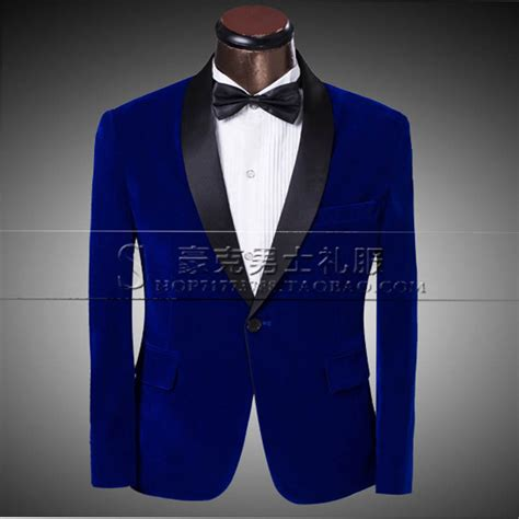 2015 Royal Blue Mens Suit Male Wedding dresses Formal Clothing The Groom Suit Blazer Pants Stage ...