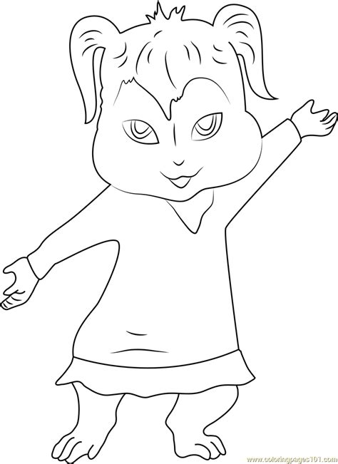 Alvin And The Chipmunk Coloring Pages Eleanor Coloring Page Free Alvin And The Chipmunks