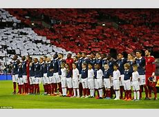 England fans sing La Marseillaise before France friendly