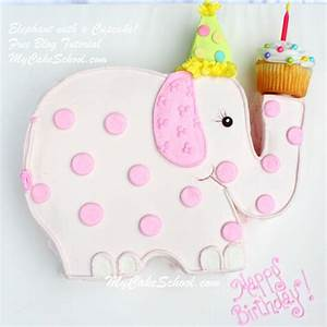 Elephant with a Cupcake!~ A Blog Tutorial My Cake School