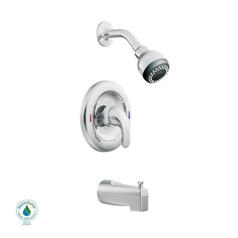 moen adler single handle 1 spray tub and shower faucet