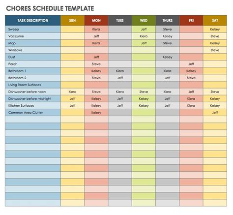 time management template time management schedule template fee schedule template