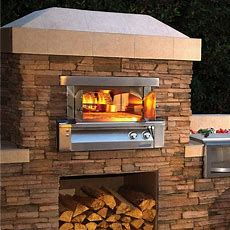 Alfresco 30inch Builtin Natural Gas Outdoor Pizza Oven