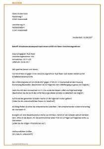 Rechnung Bei Versicherung Einreichen Vorlage : musterbrief f r die versicherung zur schadensregulierung ~ Themetempest.com Abrechnung
